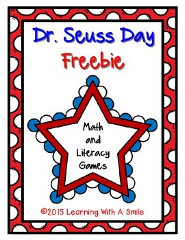 Freebie ~ Read Across America ~ Dr. Seuss ~ Math and Liter