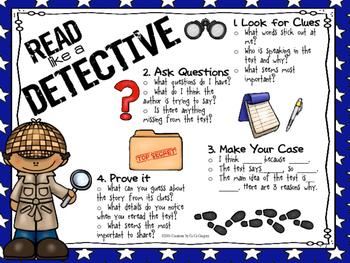 Freebie Read Like a Detective Classroom Poster