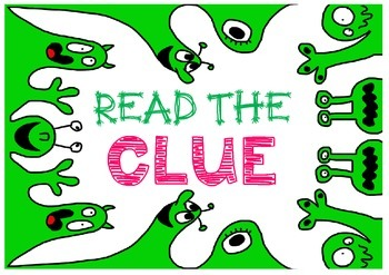 Freebie:  Read the Clue - a reminder poster to read the question!