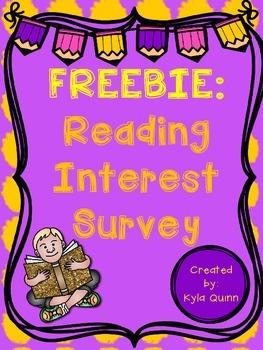 Freebie: Reading Interest Survey