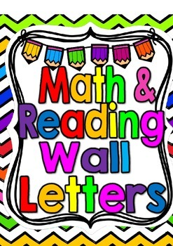 Freebie-Reading Wall and Math Wall Pennant Letters