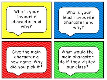 ~Freebie!~ Reading comprehension prompt pack  - 32 questions in total!