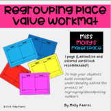 Freebie Regrouping Place Value Workmat