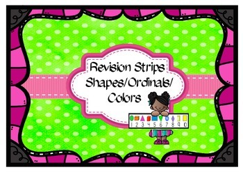 Freebie Revision Strips - Shapes/Ordinals/Colors