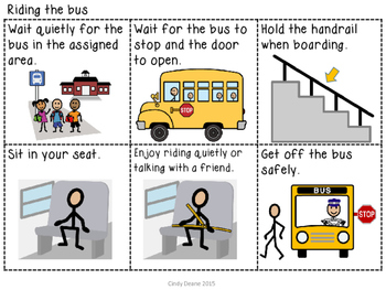 Freebie: Riding the Bus Visual Supports