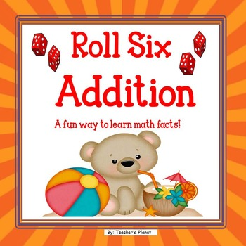 Free Addition Game! Roll Six Addition