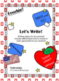 Freebie!! Landmark Writing Paper
