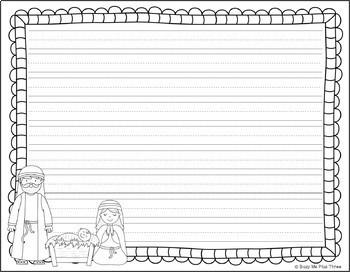 Freebie {SAMPLER} Christmas Nativity Coloring & Writing Page