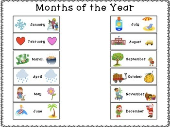 Freebie Sample! Calendar: Months of the Year