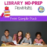 Elementary Library No Prep Printables - Free Sample