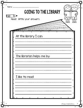 Elementary Library No Prep Printables - Free Sample