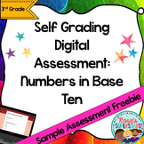 Freebie Sample Numbers in Base Ten Self-Grading Digital Assessment