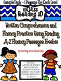 Freebie Sample Pack: mClass Reading 3D TRC Written Comprehension Responses