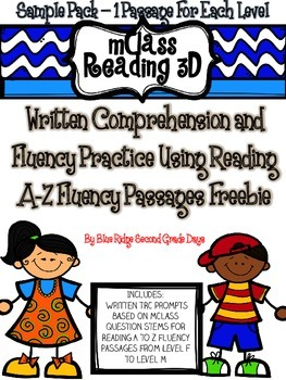 Freebie Sample Pack: mClass Reading 3D TRC Written Comprehension Responses