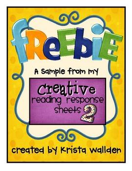 Freebie! {Sample Reading Response Sheets}