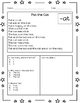 Freebie Sample Word Families Reading Comprehension Printables: Vowel A Version