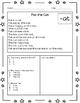 Freebie Sample Word Families Reading Comprehension Printab