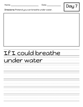 Freebie Sample Writing Prompts for the Whole Year