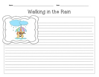 Freebie Sample pages from: Spring Themed Writing Packet