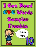 Freebie Sampler I Can Read CVC Words Packet
