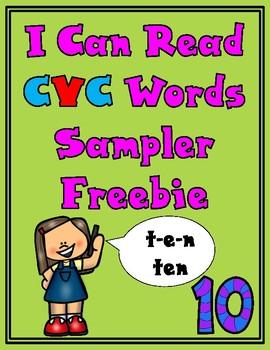 Freebie Sampler I Can Read CVC Words Packet