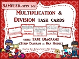 Freebie Sampler Tape Diagram Multiplication Division Cards