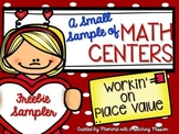 Freebie Sampler of Place Value Centers Valentines Math