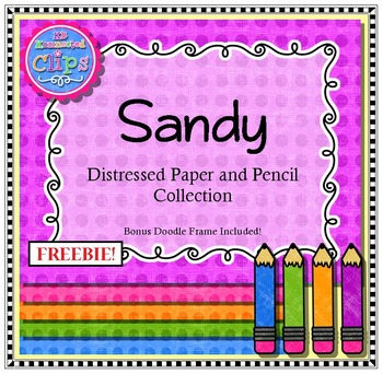 Freebie! Sandy Distressed Paper and Pencil Collection