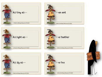 *Freebie Scarecrow Similes ( A Simile matching game)