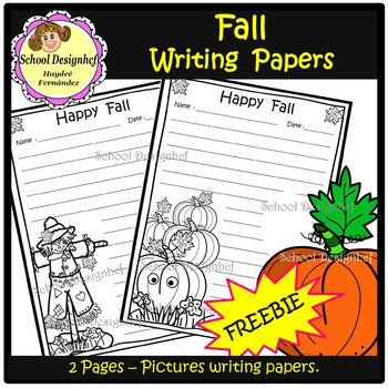 Freebie Scarecrow writing paper