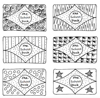 Doodle Notes - Freebie! School Bucks Freebie! by Science and Math Doodles