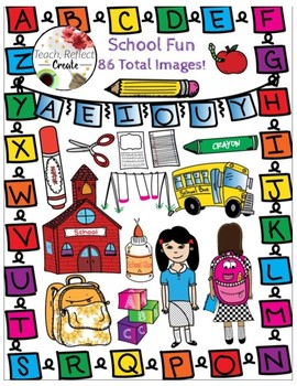 School Theme Clipart