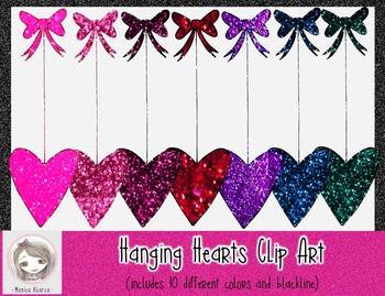 {Freebie} Hanging Hearts Clip Art