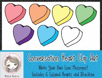 Conversation Heart Clip Art