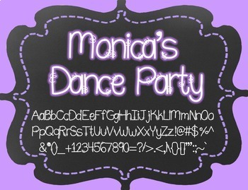 Monica's Dance Party {Font for Personal and Commercial Use}
