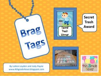 Freebie : Secret Trash Game Brag Tag