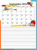Freebie September calendar with lines