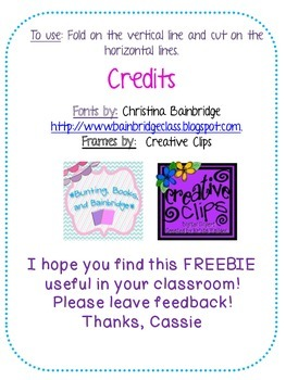 {Freebie!} Sequencing Foldable!