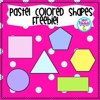 Freebie! Shapes Clipart Pastel Colors