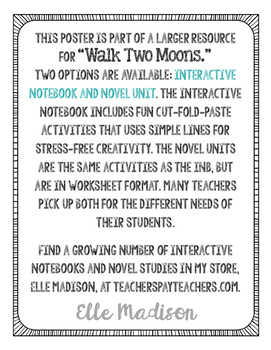 Freebie! Sharon Creech Author Quote Art - Walk Two Moons