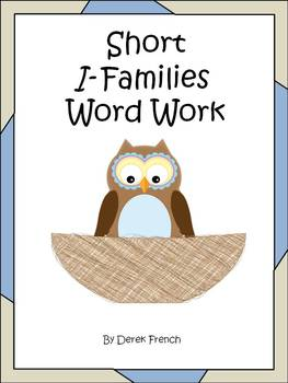 Freebie - Short I Word Families Word Work