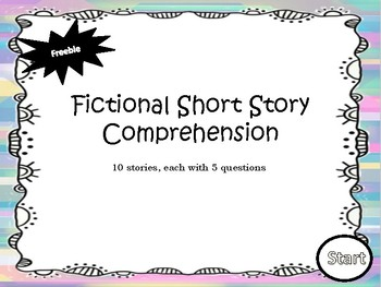 Freebie - Short Story Comprehension