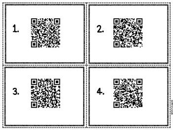 Spelling CVC Words QR Code Hunt - Digital & Printable Task Cards Freebie!