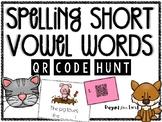 Spelling CVC Words QR Code Hunt - Digital & Printable Task