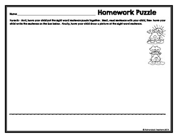 Freebie! Sight Word Sentence Groundhog's Day Puzzles