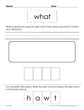Freebie: Sight Word Worksheets by Mai Huynh | Teachers Pay Teachers