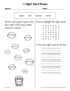Freebie sight word worksheets by mai huynh teachers pay teachers freebie sight word worksheets ibookread