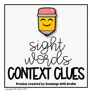 {Freebie!} Sight Words in Context:  Printables for Student