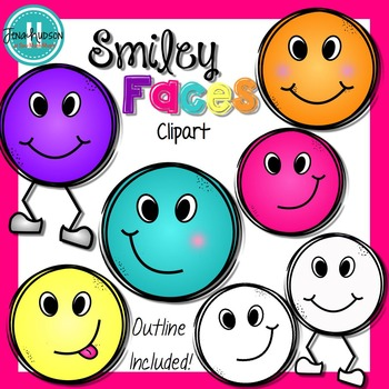 **Freebie** Smiley Faces Clipart