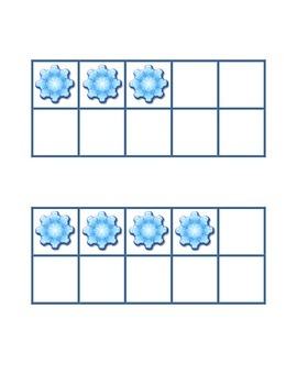 Freebie Winter Snowflake Ten Frames